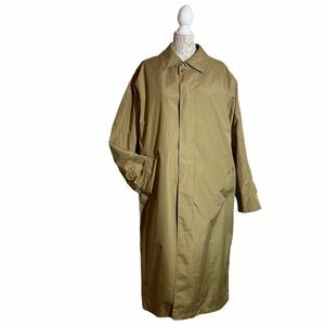 TravelSmith Lined Trench Rain Coat Men All-Weather